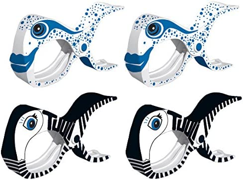 S/ábana Toalla en Hogar Pinzas Grandes para Colgar Ropa Azul Piscina Clips Dise/ñados de Chancleta para Toalla de Playa Balc/ón,Playa LYTIVAGEN 1 Par de Pinzas de Pl/ástico para Toallas