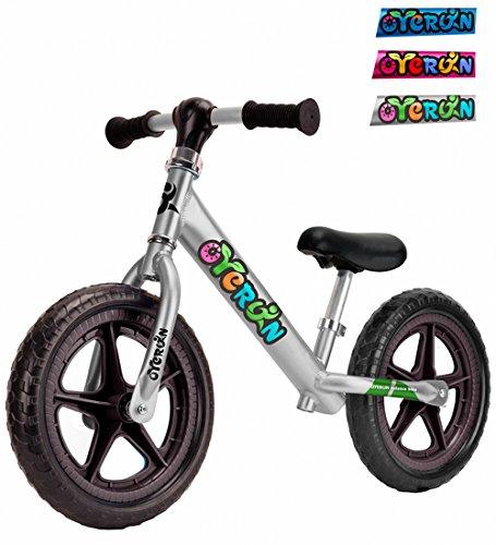Oyerun Baby Fit Balance Bike - Kids Smart Adjustable Push Bikes (Silver)