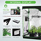 "VIVOSUN 60""x32""x80"" Grow Tent Mylar Hydroponic Grow Tent with Observation Window and Floor Tray for Indoor Plant Growing"