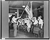 1943 Photo New York, New York students pledging allegiance to the flag in public school eight in an Italian-American section Location: New York