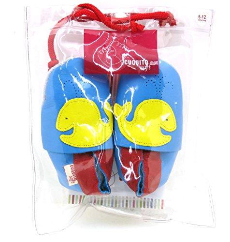 Cuquito suave Zapatos de gateo Zapatos primeros pasos zapatos de bebé Zapatillas de Cuero cuero Ballena