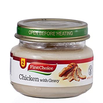 Amazon First Choice Baby Food Chicken With Gravy Stage 2 25oz