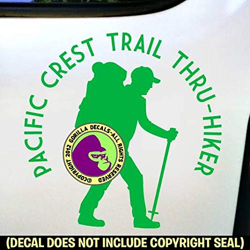PACIFIC CREST TRAIL THRU HIKER Hiking Love Hike PCT Vinyl Decal Sticker B