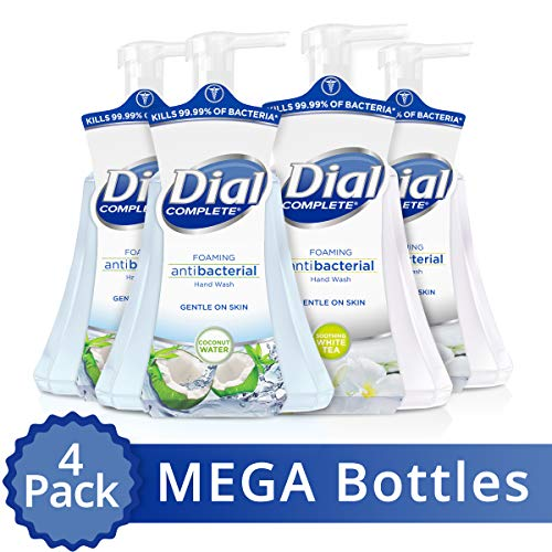 Dial Complete Antibacterial Foaming Hand Wash, Coconut Water/soothing White Tea, 15 Oz (Pack Of 4) (Foam Hand Soaps)