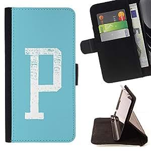 Momo Phone Case / Flip Funda de Cuero Case Cover - Aparcamiento Carta minimalista inicial Blanco Verde - Sony Xperia Z2 D6502