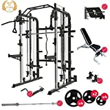 Force USA Monster G3 Smith Machine Ultimate Package, Adjustable Bench, Leg Press, Olympic Bar...