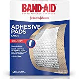 Band-Aid Brand Adhesive Pads, Large, 10 Count (Pack of 6)