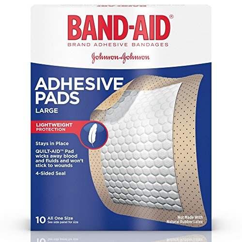 J&J Adhesive Pad Lrg Size 10s Band-Aid Large Comfort-Flex Adhesive Pads
