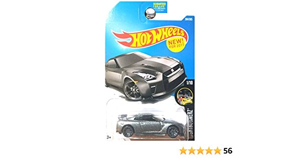 NightBurnerz 2017 Hot Wheels D2 17 NISSAN GT-R R35 #282 orange Damaged