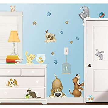 At the Pet Shop Dogs and Cats Wall Decor Stickers - Pet Wall ...