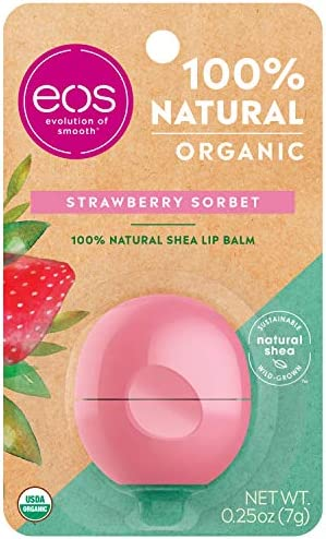 EOS Lip Balm Smooth Sphere, Strawberry Sorbet – 0.25 Oz
