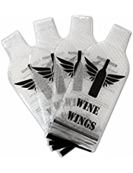 4 Pack Reusable Wine Bottle Protector Sleeve Travel Bag - Inner Skin with Tough Leak Proof Outside - Pack in Luggage and Suitcase - Accessory Gift