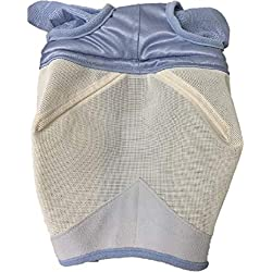 Shires Fine Mesh Horse Equine Fly Mask with Ears Light Blue 60% UV Protection (Full)