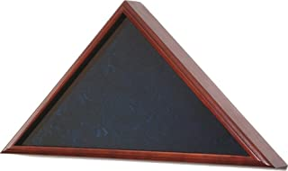 product image for All American Gifts Funeral Flag Display Case - for 5x9.5 Burial/Coffin/Casket Flag (Oak Wood with Dark Cherry Finish) - 100% Made in The USA!