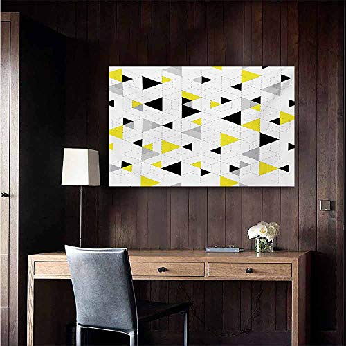 duommhome Geometric Wall Art Decor Poster Painting Abstract Triangles Diamond Motives in Mosaic Puzzle Style Illustration Print Decorations Home Decor 47