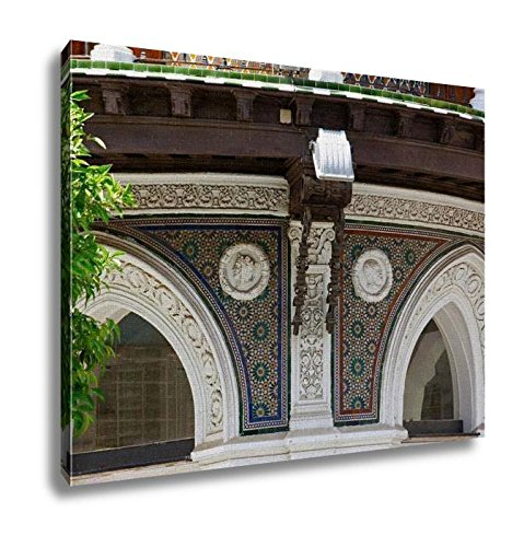 Ashley Canvas, Historic Buildings And Monuments Of Seville Spain Architectural Details Stone, Home Decoration Office, Ready to Hang, 20x25, AG6534610 by Ashley Canvas