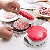Burger Press,Hamburger Meatball Press Hand-held Burger Presser,ABS+Stainless Steel Blade Burger Mold,Vegetable Cutter Kitchen Gadget