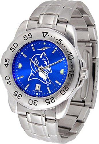 (Duke Blue Devils Stainless Steel Men's Sport Watch )
