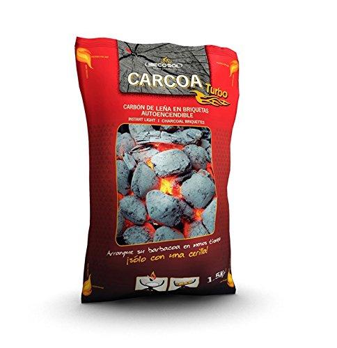 Carcoa Turbo 00973 - Briquetas autoencendibles, 1.5 kg, Color Negro: Amazon.es: Jardín