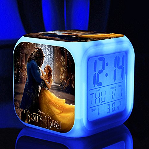 Enjoy Life : Cute Digital Multifunctional Alarm Clock With Glowing Led Lights and Beauty and the beast sticker, Good Gift For Your Kids, Comes With Bonuses (03) by EnjoyLife Inc