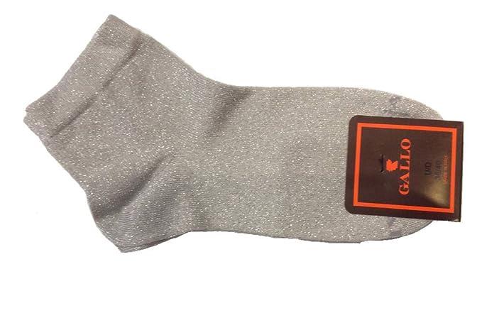 Gallo - Calcetines cortos - para mujer Plateado Grigio Argento 36-40