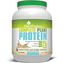 PlantFusion Complete Protein Powder, Cookies N Creme, No Soy or Rice, 30 Servings, 21g Protein, 2lb Tub