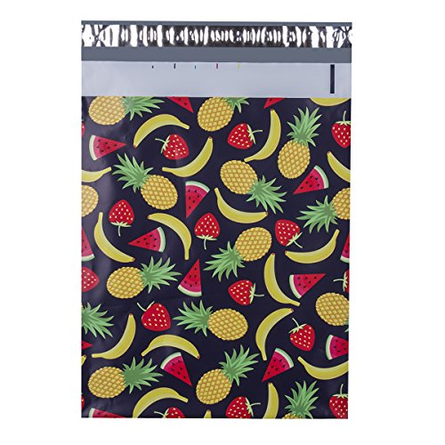 #4 10x13 Summer Fruits Designer Poly Mailers Shipping Envelopes Boutique Custom Bags 2.35MIL by Mailer Plus 100pcs