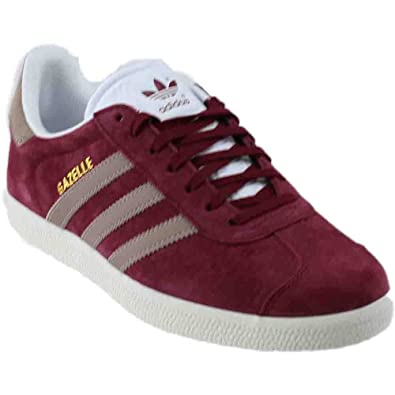 adidas Gazelle Womens in Collegiate Burgundy/Vapour Grey/Running White, 5