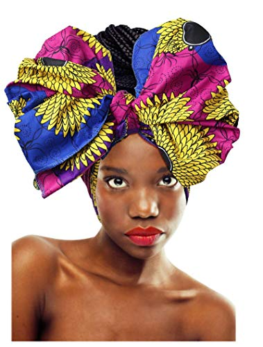 L'VOW Women' Soft Stretch Headband Long Head Wrap Scarf Turban Tie (Y-004) (Long Scarf Headband)
