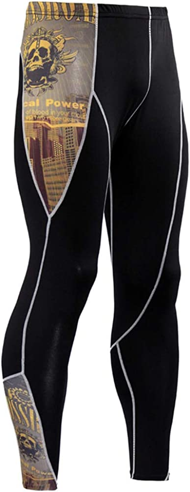 Mens Workout Set Compression Shirt and Pants Top Long Sleeve Sports Tight Base Layer Suit Quick Dry /& Moisture-Wicking /…