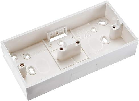 Sourcingmap - Caja de interruptor de pared con 2 interruptores ...