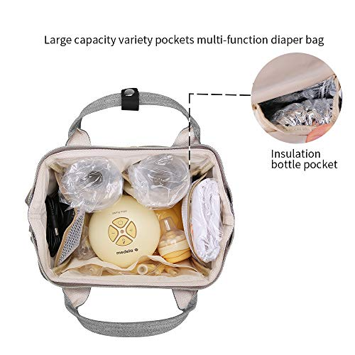 Breast Pump Bag - Mini Pump Backpack with Pockets for Cooler Bag Built-in USB Charging Pot for Phone Mother Diaper Pump Bags for Working Mothers (Fits Manual or Small Size Electric Breast Pump)