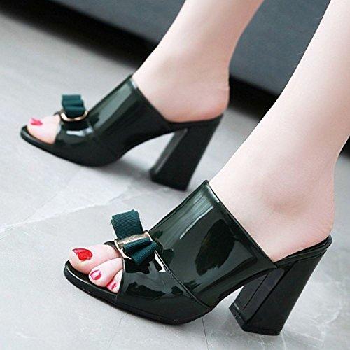 Mules Donne Scivolare Dark Heels Melady Sandali su Green Mode CqBOdww6nE