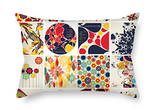 KooNicee Color Block Pillow Shams ,best For Her,couch,couples,boy Friend,bedding,car Seat 12 X 20 Inches / 30 By 50 Cm(2 Sides)