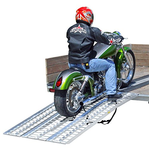 Rage Powersports M-8440 3-Piece Non-Folding Motorcycle (Folding Arch Ramp)