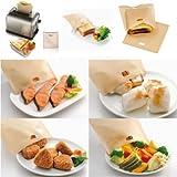 5X Reusable Toaster Toastie Sandwich Toast Bags Pockets Toasty Toastabags LD167