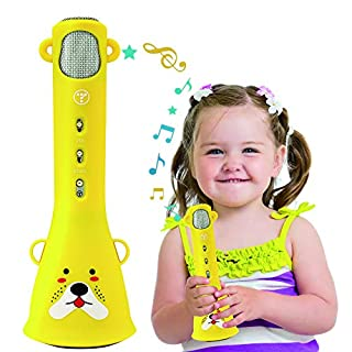 TOSING Karaoke Microphone Toys for Kids Age 3 -10 Years Old Girls,Best Birthday Gifts for 4 5 6 7 8 9 10 Years Old Teens Girls Boys Toddlers(Yellow