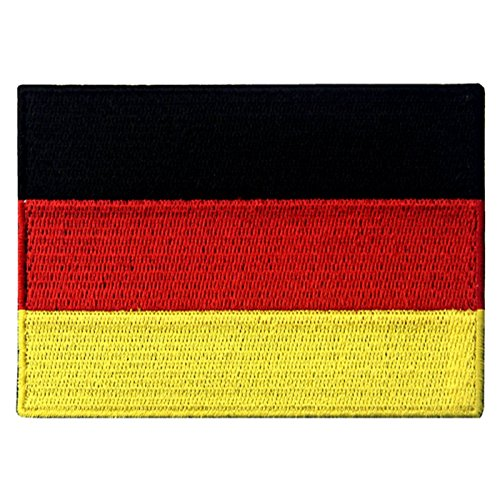 (EmbTao Germany Flag Embroidered Emblem German Applique Iron On/Sew On)