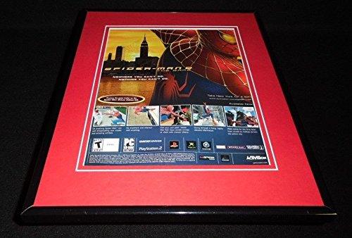 Spiderman 2 2004 PS2 XBox Framed 11x14 ORIGINAL Vintage Advertisement