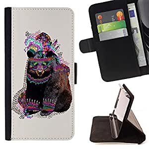 Jordan Colourful Shop -Brown Bear Grizzly bears -- Leather Case Absorciš®n cubierta de la caja de alto impacto FOR Samsung Galaxy S3 III I9300 I9308 I737 ---