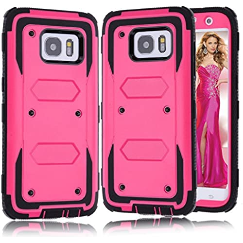 S7 Edge Case, Zenic (TM) Hybrid Shockproof Dual Layer Armor Impact Resistant Case for Samsung Galaxy S7 Edge All Carriers (Rose) Sales