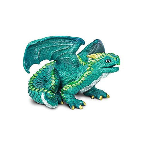 Safari Ltd. Juvenile Dragon – Realistic Hand Painted Toy Figurine Model – Quality Construction from Phthalate, Lead and BPA Free Materials – For Ages 3 and ()