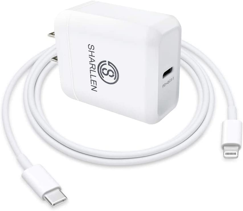 USB C to Lightning Cable Fast Charger Cable Type C Wall Charger Adapter Quick Durable iPhone Cable 18W PD Charge Cord 3FT Date Cable Compatible iPhone 11/Pro/Max/X/XS/XR/XS Max/8 Plus/8 (White)