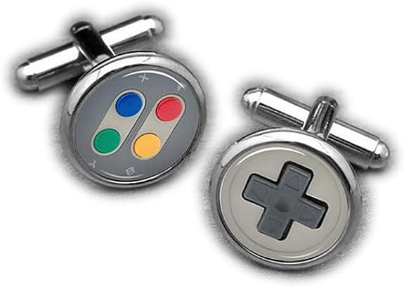 Chen Jian - Gemelos de consola de juegos, botón, videojuegos: Amazon.es: Joyería