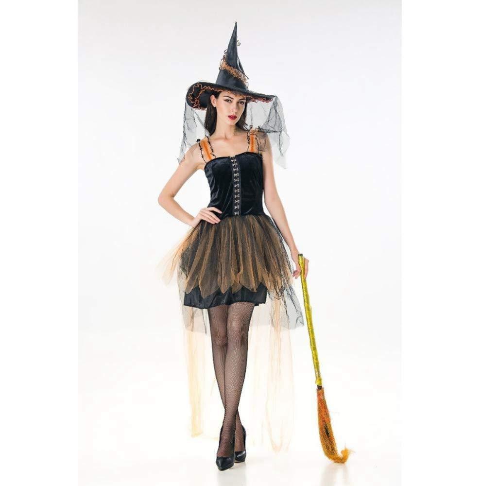 Yunfeng Halloween Bruja Disfraz para Mujer Halloween Disfraz ...
