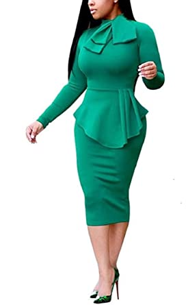 Sany Collection Business Dress One Piece Suits Ribbon Top Body Skirt