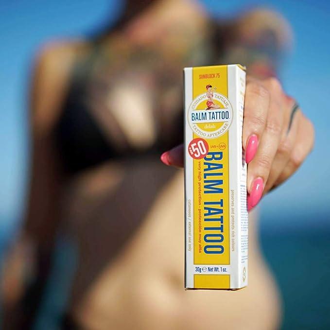 BALM Tattoo Sunblock 75 Cuidado – Adhesivo Crema: Amazon.es: Belleza