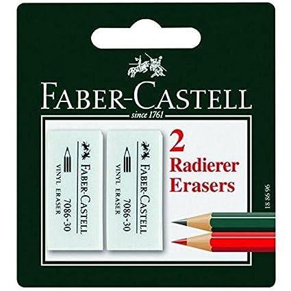 5 gomme naturali tradizionali piccole Faber Castell* gomma da cancellare per inchiostro di penna stilografica* Made in Germany