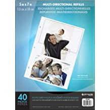 Pinnacle Thompson 5x7 Multidirectional Refill Sheets, Clear