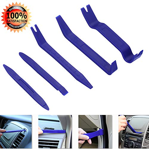 GLISTON 10pcs Auto Trim Reamoval Pry Tools Set, Car Clip Removal Kit, Door Panel Remover Tool for Trimming Vehicle Audio/Radio, Door Panel, Window, Interior Accessories - Cars Panels Door For